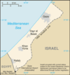 Map of the Gaza Strip.