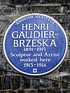 HENRI GAUDIER-BRZESKA 1891-1915 Sculptor and Artist worked here 1913-1914.jpg