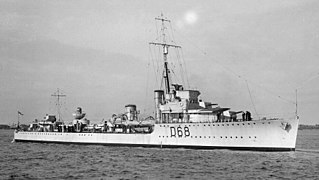 HMAS <i>Vampire</i> (D68) 1917-1942 V-class destroyer of the Royal and Royal Australian navies