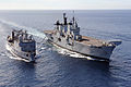 HMS Illustrious Refuelling from FS Somme MOD 45155925.jpg
