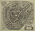 HUA-210003-Plattegrond van de stad Amersfoort met weergave van percelen het stratenplan met straatnamen bebouwing en bomen in opstand watergangen verdedigingswer.jpg