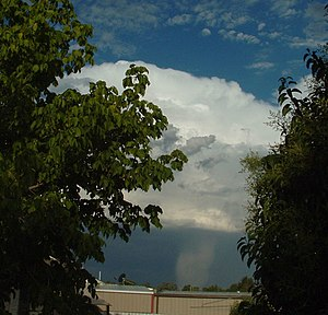 Atmospheric convection - Hail shaft