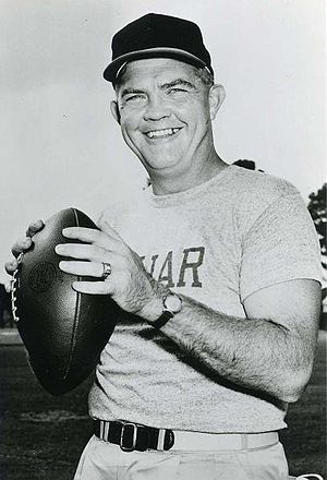1957 Houston Cougars football team - Head Coach Hal Lahar