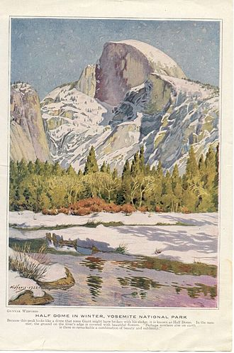 History of the National Park Service - Half Dome by Gunnar Widfoss(1922)