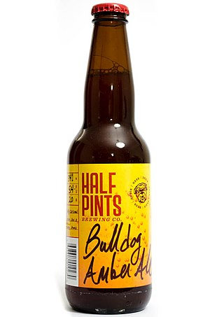 Half Pints Brewing Company - Image: Half Pints Brewing Co. Bulldog Amber Ale