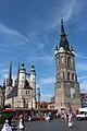 Halle, Markt, Roter Turm, Marienkirche 2015-08.jpg