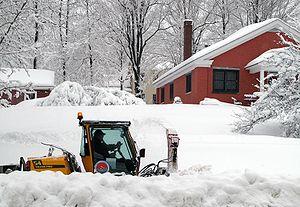 Hallowell, Maine sidewalk snowplow