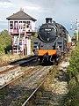 Hammersmith Signal Box & no.73129 Class 5 Steam Loco (6160023550) (3).jpg