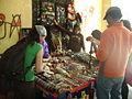 Handicrafts street-stand in Huaraz.JPG