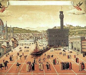 The execution of Girolamo Savonarola