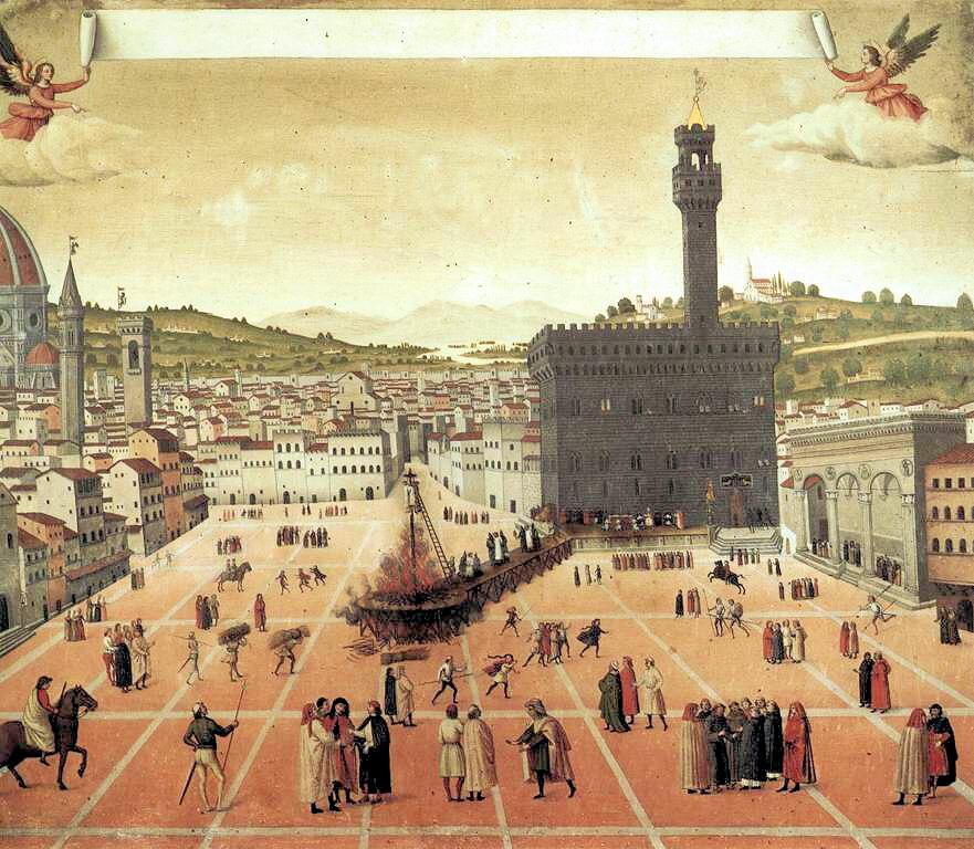 Hanging and burning of Girolamo Savonarola in Florence