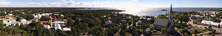 Hanko, Finland. Panoramic photo shot from the water tower.