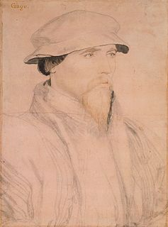 John Gage (Tudor politician) English courtier during the Tudor period