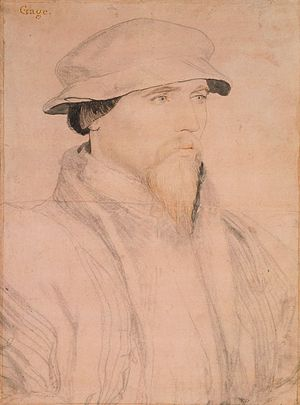 Constable of the Tower - Image: Hans Holbein the Younger Sir John Gage RL 12207