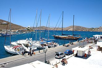 Ios (island) - The harbour of Ios