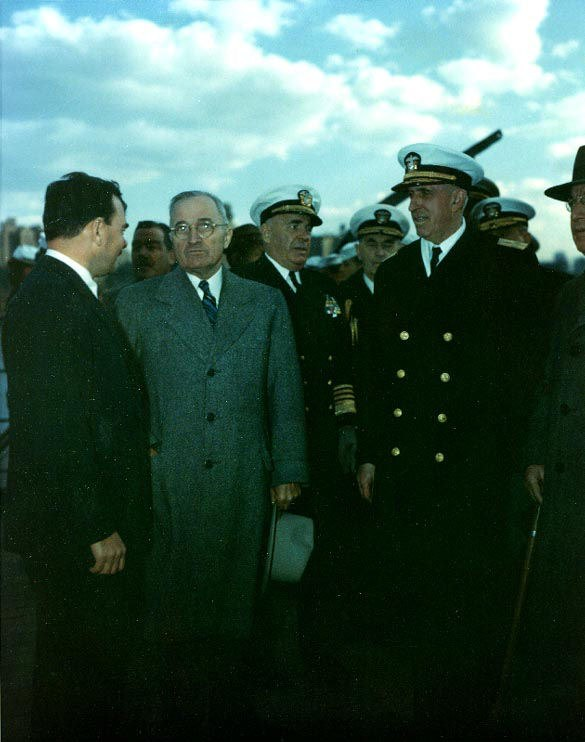 Harry S. Truman and Herbert F. Leary