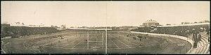 Drake Stadium (1904) - Image: Haskins Field Drake University 1908