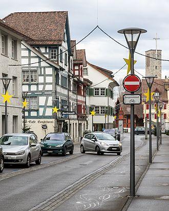 Rheineck - Hauptstrasse in Rheineck
