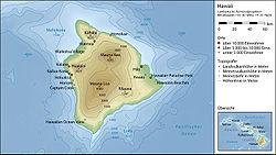 Topographie von Hawaii