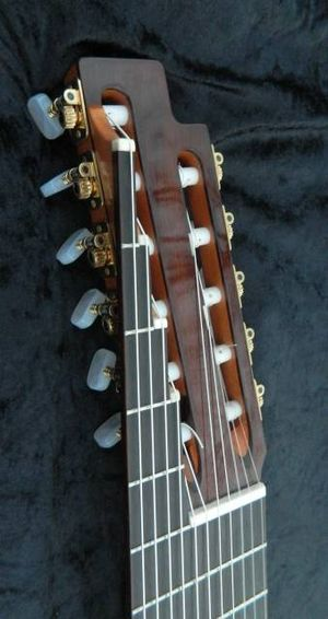 Eleven-string alto guitar - Head of 11-string alto guitar