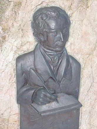 Loxstedt - Relief of Heinrich Luden, a German historian, in Loxstedt