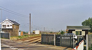 Helpston railway station - Remains of the station in 1995