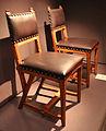 Hendrickus peter berlage, sedie create per gli uffici de nedelanden a la haye, paesi bassi 1895-96.JPG