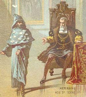Ernani - Scene from Hugo's play: Ernani seeks shelter