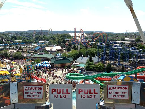 Hersheypark view from Ferris Wheel, 2013-08-10