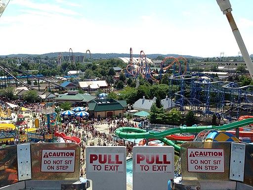 Hersheypark view from Ferris Wheel, 2013-08-10