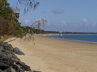 Hervey Bay - On the beach Hervey Bay looking towards Torquay