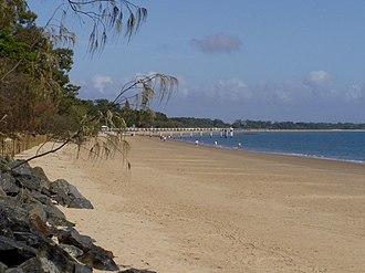 Hervey Bay - On the beach Hervey Bay looking towards Torquay