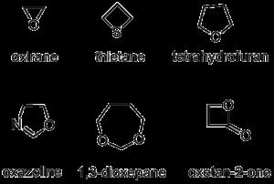 Cationic polymerization - Examples of heterocyclic monomers