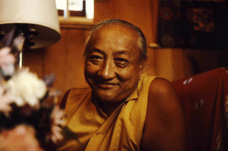 File:His Holiness Dilgo Khyentse Rinpoche's broad smile, Seattle, Washington, USA 1976.jpg