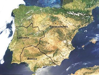 Hispania - Hispania under Caesar Augustus's rule after the Cantabrian Wars in 29 BC