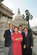 Nydia Velázquez with Members of the Hispanic Caucus