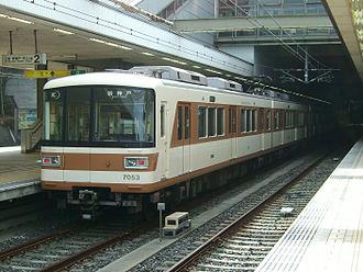 Hokushin Kyūkō Electric Railway - A Hokushin Kyūkō Electric Railway 7000 series train in 2008