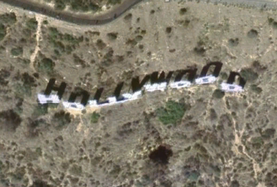 Hollywood Sign satellite view