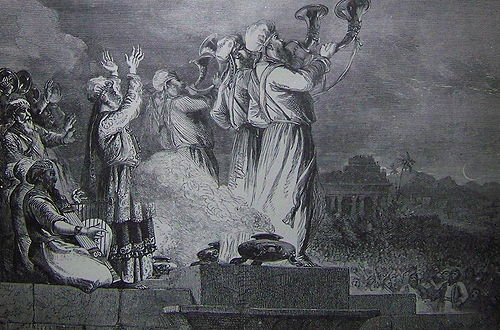 Holman Blowing the Trumpet at the Feast of the New Moon (crop)