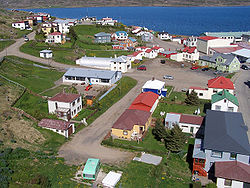 The village of Hólmavík