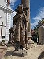 Holy Trinity column, statue of Mary Magdalene as a hermit in Gyenesdiás, 2016 Hungary.jpg