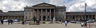 Huddersfield railway station - Huddersfield railway station in St. Georges Square