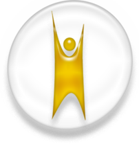 Symbol of Humanism, white and golden version.