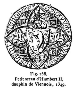Humbert II of Viennois - Little Seal of Humbert II, 1349