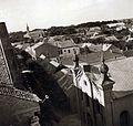 Hunyadi János utca az Érseki Főgimnázium (ma Szent István Gimnázium) tetőjéről fényképezve. Elől jobbra a Kalocsai Református Egyházközség temploma, háttérben a Szent József-templom. Fortepan 100267.jpg