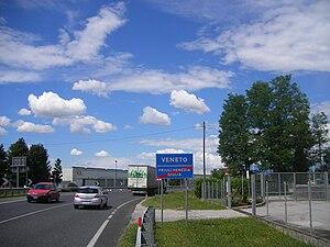 Border between Friuli-Venezia Giulia and Venet...