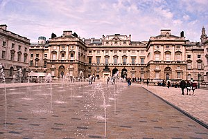 Somerset House - The dancing fountains were installed in the 1990s.