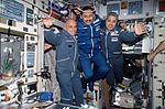 ISS-02 Soyuz TM-32 Taxi crewmembers in the Zvezda Service Module.jpg