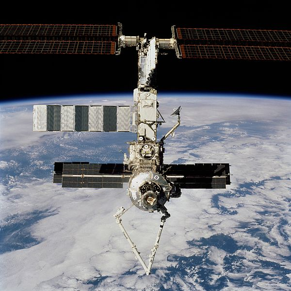File:ISS with the Canadarm2.jpg
