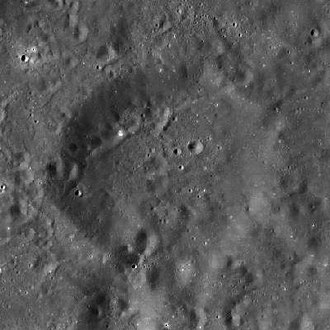 Ibn-Rushd (crater) - LRO WAC mosaic